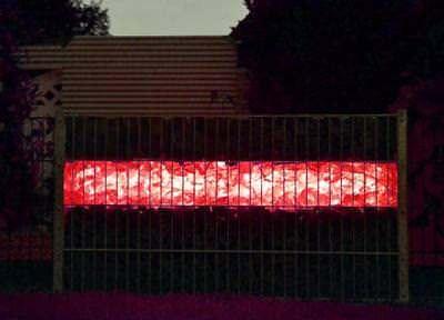 Led Gabionen Licht Beleuchtung LED 2x0,9m länge 360° Farbe kaltweiß Garten