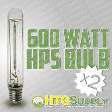 Qty 2 600 watt HPS GROW LAMPS 600w Lights w Bulbs Sodium Super Hydroponics two