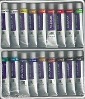 Oil Paints 18 Tube Paint Set W/ 4 Hog Bristle Brushes