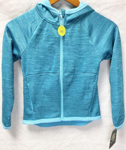 C9 by Champion Girls Full Zip Tech Fleece Duo Dry Hoodie Teal Sizes XS S M L
