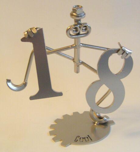Hip Hip HOORAY 18 18TH Compleanno Metallo SCULTURA REGALO