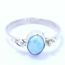 Larimar 925 Sterling Silver Ring Jewelry s.6 RR219007