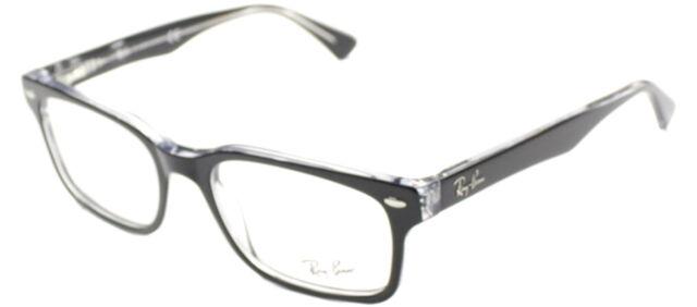 Ray Ban Eyeglasses Rx5286 2034 Black Clear Plastic Frame 51mm | eBay