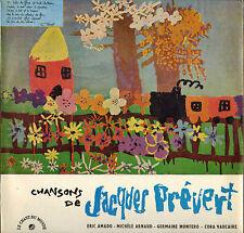 """GERMAINE MONTERO, CORA VAUCAIRE """"JACQUES PREVERT"""" 60'S LP"""