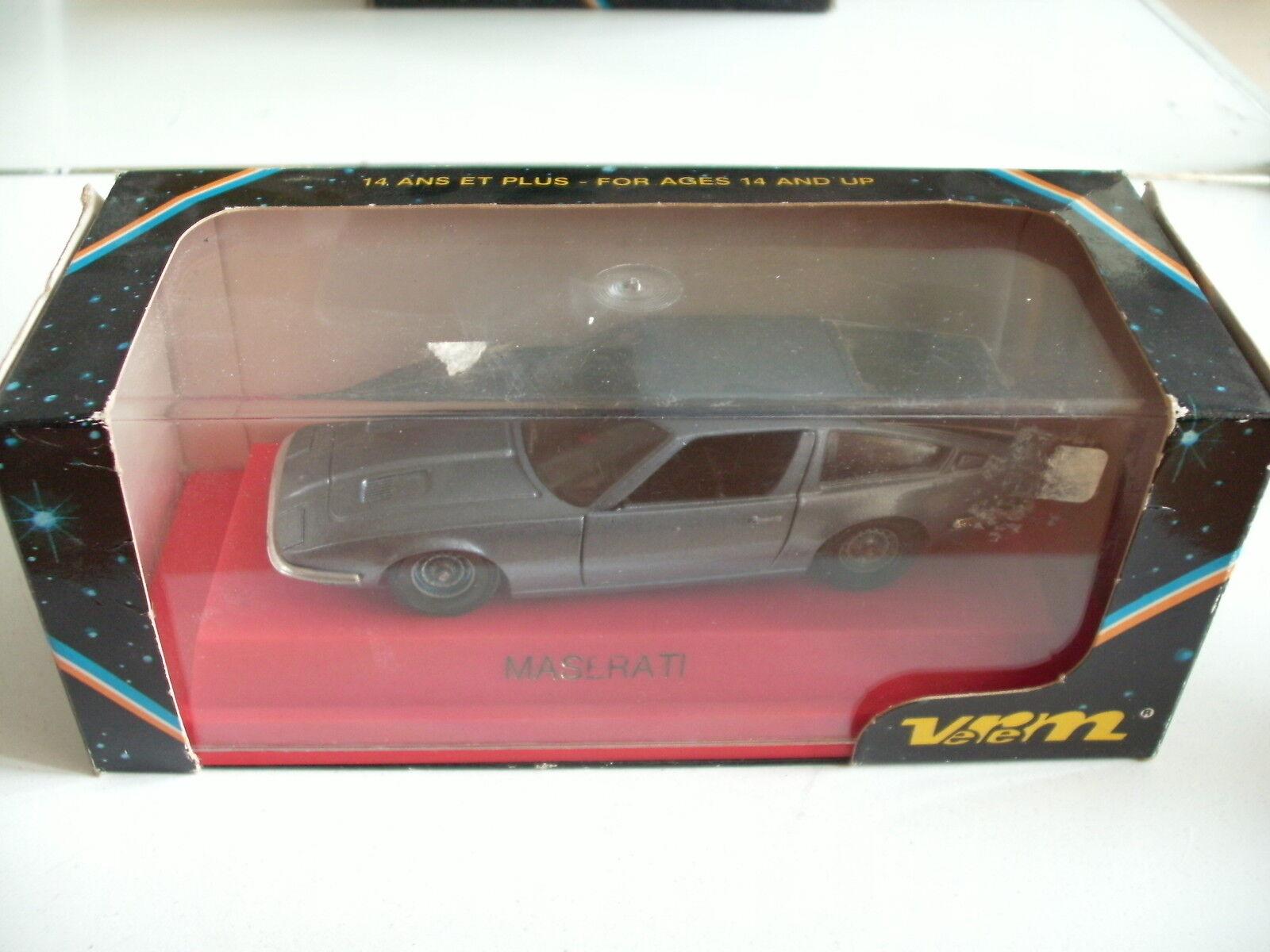 Verem Maserati in Grey bluee on 1 43 in Box