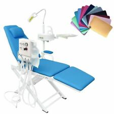 Dental Folding Chairled Surgical Lightwaste Basinwater Supply System 4h Blue