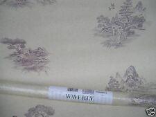 Wallpaper Waverly 578674 Regent Toile Heather Dusk Oriental Print New