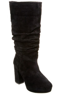5fa914c70 DUNE UK 3 & 8 Ladies Black Suede Slouch Mid Calf Kirsty 4