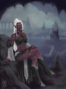 Drow Dark Elf Forgotten Realms Fantasy Sexy Drizzt Art Print