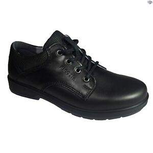 Ricosta Harry Boys Classic Smooth Toe Black Leather School Shoes Size 34 36