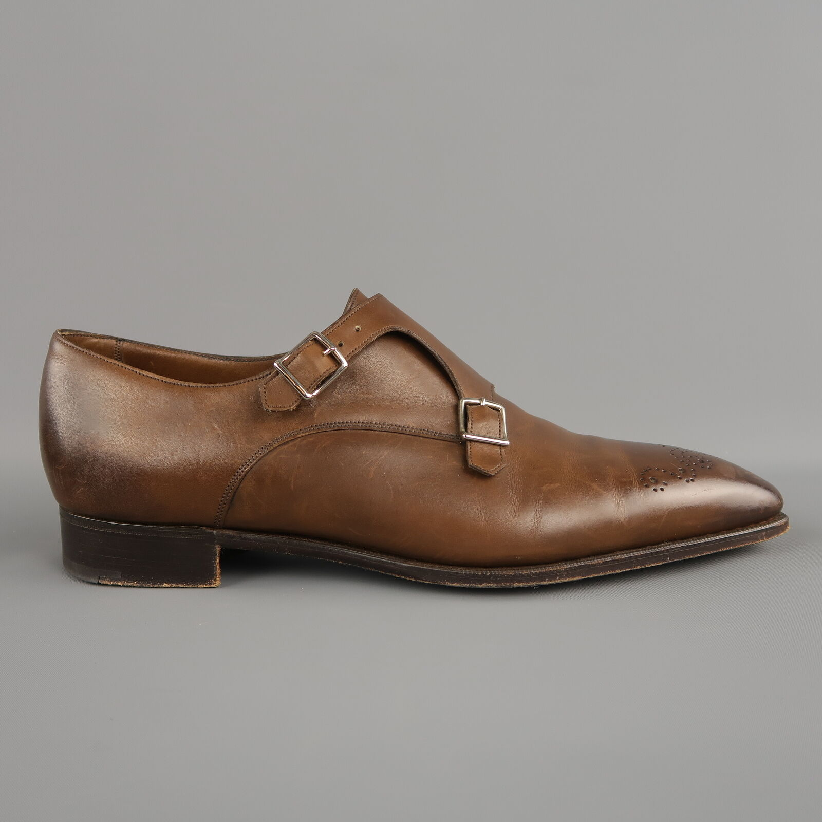 GAZIANO & GIRLING Grosvernor Dimensione 13.5 Marroneee Perforated Leather Loafers