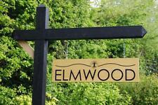 BIADESIVO personalizzata Appeso segno inciso Oak in Legno FORCA House Drive