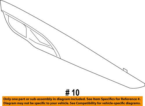 BMW OEM 14-18 X5-Door Interior Trim Panel Left 51417381879
