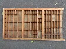 Vtg Wooden Typeset Printing Block Letter Press Shadowbox Drawer Tray Shelf