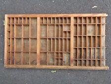Vtg Wooden Typeset Printing Block Letter Press Shadowbox Drawer Tray Shelf