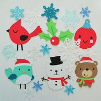 Cute Animals Winter Christmas Bear Snowman Set2 Paper Scrapbook Embellishment