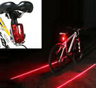 Cycling Bicycle Bike Rear Tail Safety Warning 5 LED+ 2 Laser Flashing Lamp Light