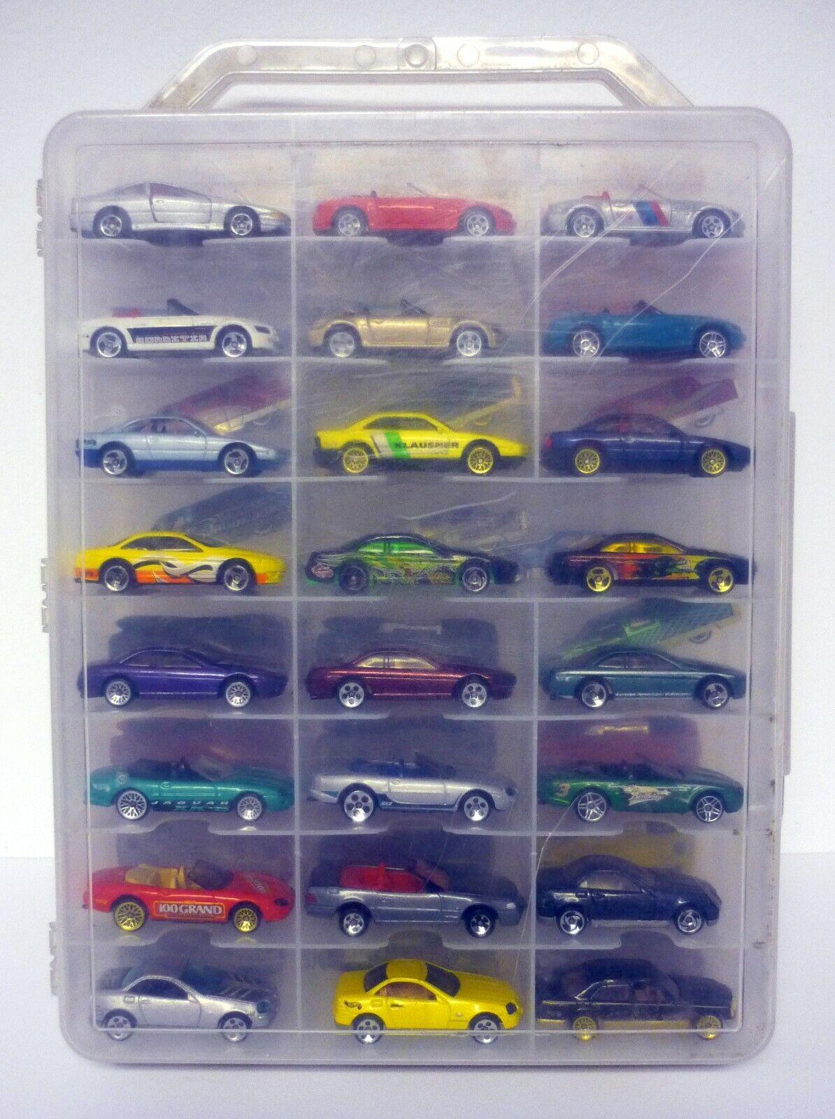 Hot Wheels 48 estuche de transporte de coche con los coches de lujo y Deportes Coches De Fundición