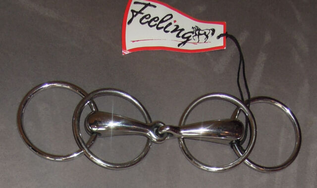 NEU Doppelringtrense Fahrgebiss einfach gebrochen Breite 12,5cm Edelstahl Feelin
