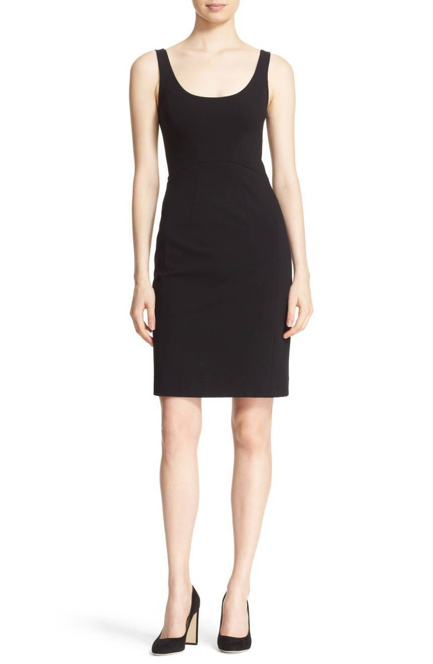 NWT Diane von Furstenberg Geovana Fitted schwarz Sheath Dress