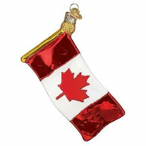 Canada Flag Ornament Old World Christmas New Blown Glass ...