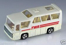 Majorette Die Cast #262 TWA Minibus Cream White 1:87 Made In France