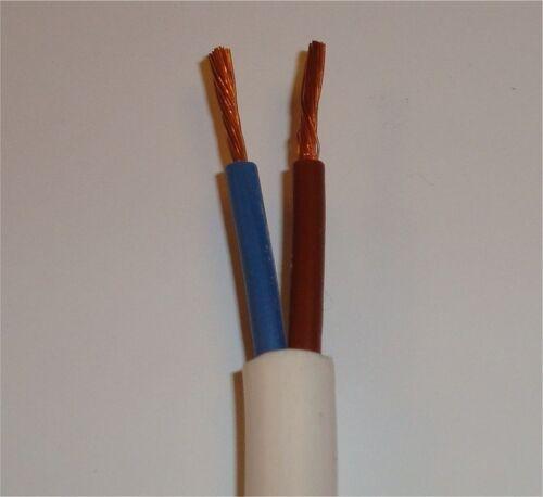 flexible cable H05VV-F 3182Y 2 x 0.75 mm² 2 core ROUND FLEX 50m white