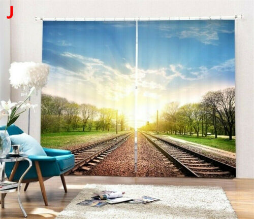 3D Curtain Forest Scenery Window Curtains Drapes for Living Room Home Decor