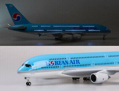 45CM 1:160 KOREAN AIR AIRBUS A380 Passenger Airplane Plane Aircraft Resin Model