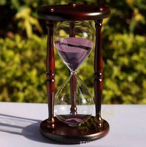 60 minutes wood sand hourglass timer meter clock sand timer