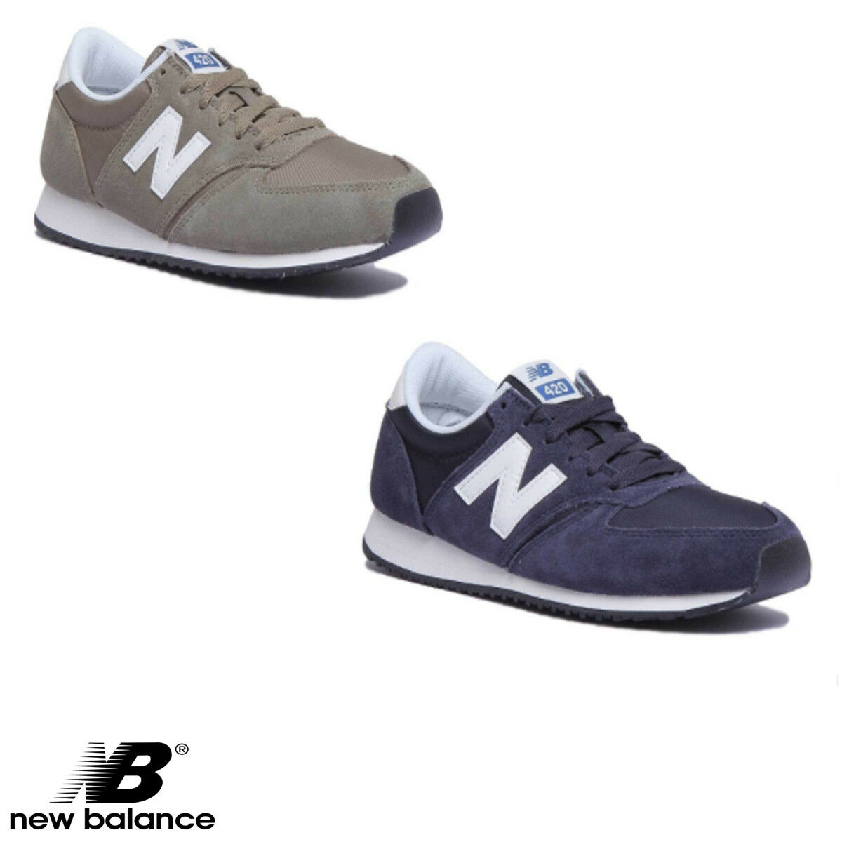 New Balance Trainers U420NVB Men Suede Navy Trainers Balance Größe 7.5 - 13 499800