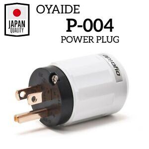 Oyaide P-004 Power Plug Unplated Beryllium Copper 125V / 15A High Quality Japan