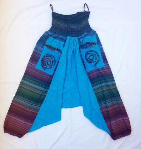 Unisex yoga 100/% Vegan Striped Harem Hippie Trousers