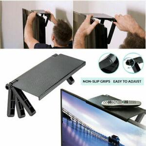 TV Computer Screen Caddy Screen Top Shelf Desktop Adjustable Storage Rack-Holder