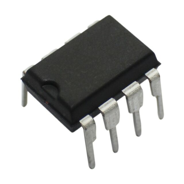 10x RC4558P Operational amplifier 3MHz 515VDC Channels2 DIP8 TEXAS INSTRUMENTS