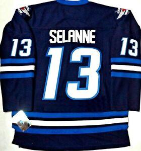 hot sale online cca68 cf8c8 Details about NWT L/XL TEEMU SELANNE WINNIPEG JETS NHL/TEAM LICENSED HOCKEY  JERSEY MEN/ADULT