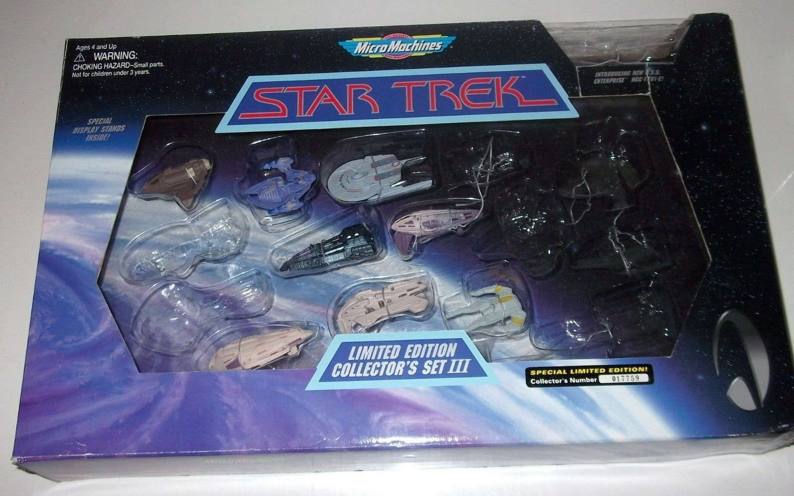 punto de venta en línea Estrella Trek Edición limitada conjunto de coleccionista coleccionista coleccionista I-III Galoob 8 suelto se envía con caja  barato