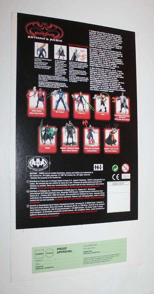 1997 Kenner Batman & & & Robin Bruce Wayne Proof Card Set Predotype Pre-Production 8d388c