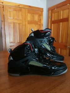 best sneakers e66b9 6c3a0 Image is loading NIKE-Air-Jordan-Spizike-Stealth-Black-039-Patent-