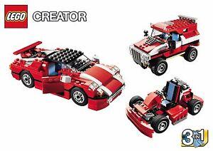 SUPER SPEEDSTER, Lego 5867, CREATOR: TRAFFIC 3 in 1 kit, Audited & 100% Complete