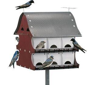 Purple Martin 16 Family Barn Bird House Weather UV Resistant Box Durable NEW