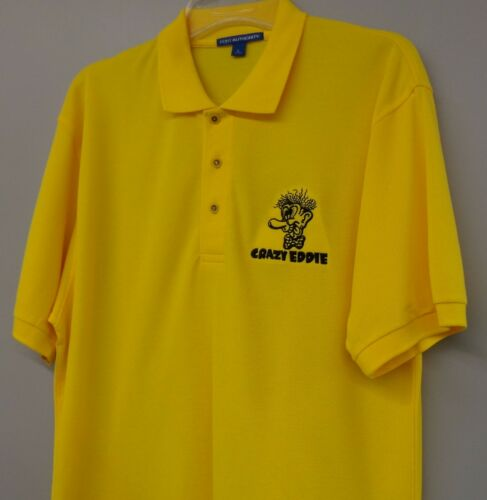 Crazy Eddie Electronics Store Mens Polo XS-6XL LT-4XLT His Prices Are Insane!