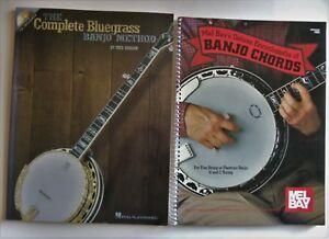 2 Livres Complet Bluegrass Banjo Method, Mel Bay's Deluxe Encyclopedia Of Chords-afficher Le Titre D'origine Construction Robuste