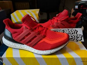 b2c9a6431f8 Adidas Ultra Boost 2.0 Solar Red Power Core Black Gradient Running ...