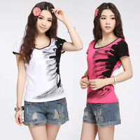 Fashion Women Casual Short Sleeve T-shirt Blouse Loose Tops Tee Blouse Summer