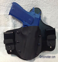 Mto 1911 Springfield Full Size Iwb Mto Holster Ccw Kydex Leather Hybrid Tuckable