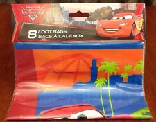 Disney CARS 2  - 8 Favor Loot Treat Bags Birthday Party Supply Decorations