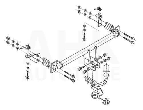 Für Opel Zafira A 99-05 Anhängerkupplung starr+ES 7p uni Kpl AHK