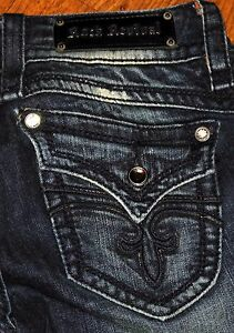 Taglie Revival Originale Jeans Donna Slim Blu Rock 29x29 Bootcut Gwen nHR87x4