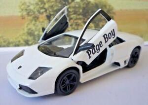 Wedding Day Gift Personalised Page Boy Usher Name White Lamborghini Toy Car Boy
